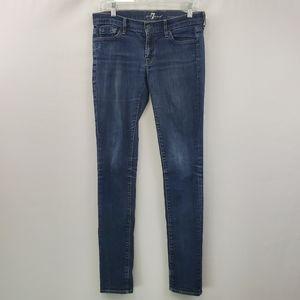 7 for all mankind roxanne skinny jean 31.5 inseam